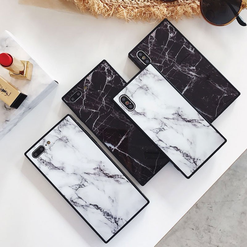 Details about Rectangle Shockproof Marble TPU Case Cover For iPhone X XR XS  Max 6 6s 7 8 Plus