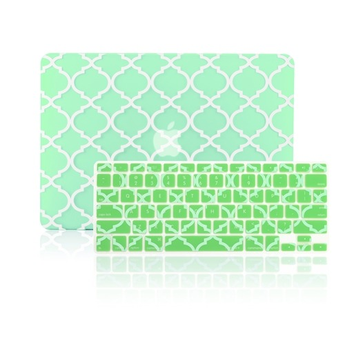 "Quatrefoil Moroccan YELLOW Hard Case for Macbook PRO 13/"" Retina A1425 /& A1502"