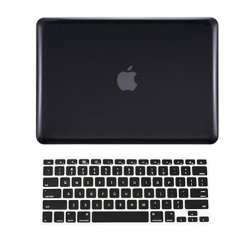 new arrival 5fce4 2ba12 2 in 1 BLACK Crystal Hard Case for Macbook PRO 13