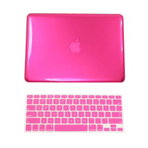 """3in1 PINK Rubberized Case for Macbook Pro 15/"""" A1398 Retina display LCD Key"""