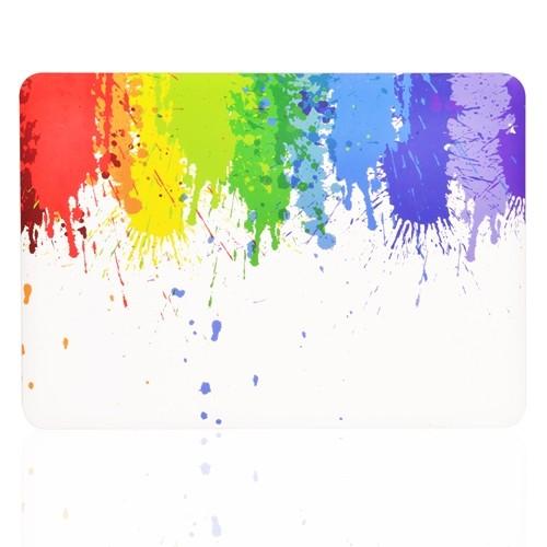 "Black Paint Splash Graphic Rubberized Hard Case for Macbook Pro 13/"" Model A1278"
