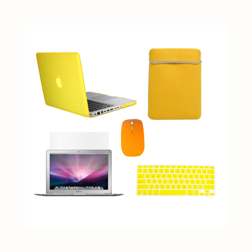 """4 in 1 HOT BLUE Rubberized Case for Macbook Pro 13/"""" A1425 Retina+Key+LCD+BAG"""