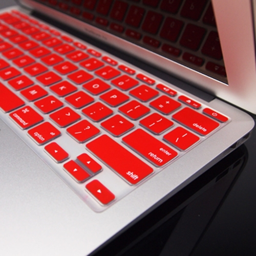 """RED Silicone Keyboard Cover for NEW Macbook Air 11/"""""""