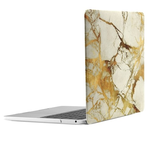 """MARBLE WHITE//GOLD Hard Case for Mac Pro 13/"""" A1989//A1706//1708-RELEASE 2018//17//16"""