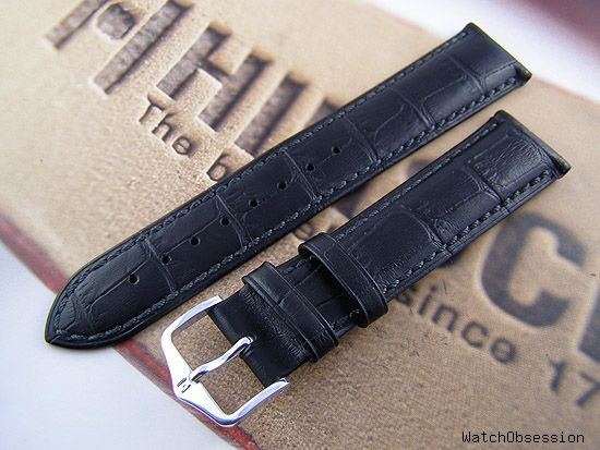 36463d416 ... strap for vintage Longines? I would opt for the Hirsch Duke in Golden  Brown or Black, these are leather with a Gator embossed grain, therefore  not too ...