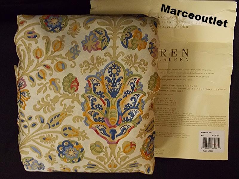 Ralph Lauren Marrakesh Rug Full Queen Duvet Cover Ebay
