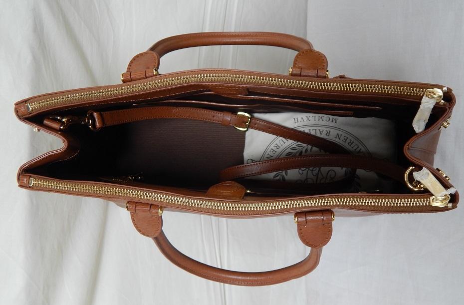 9fa1db765791 Lauren Ralph Lauren Newbury Double Zip Satchel Tan  298 on PopScreen