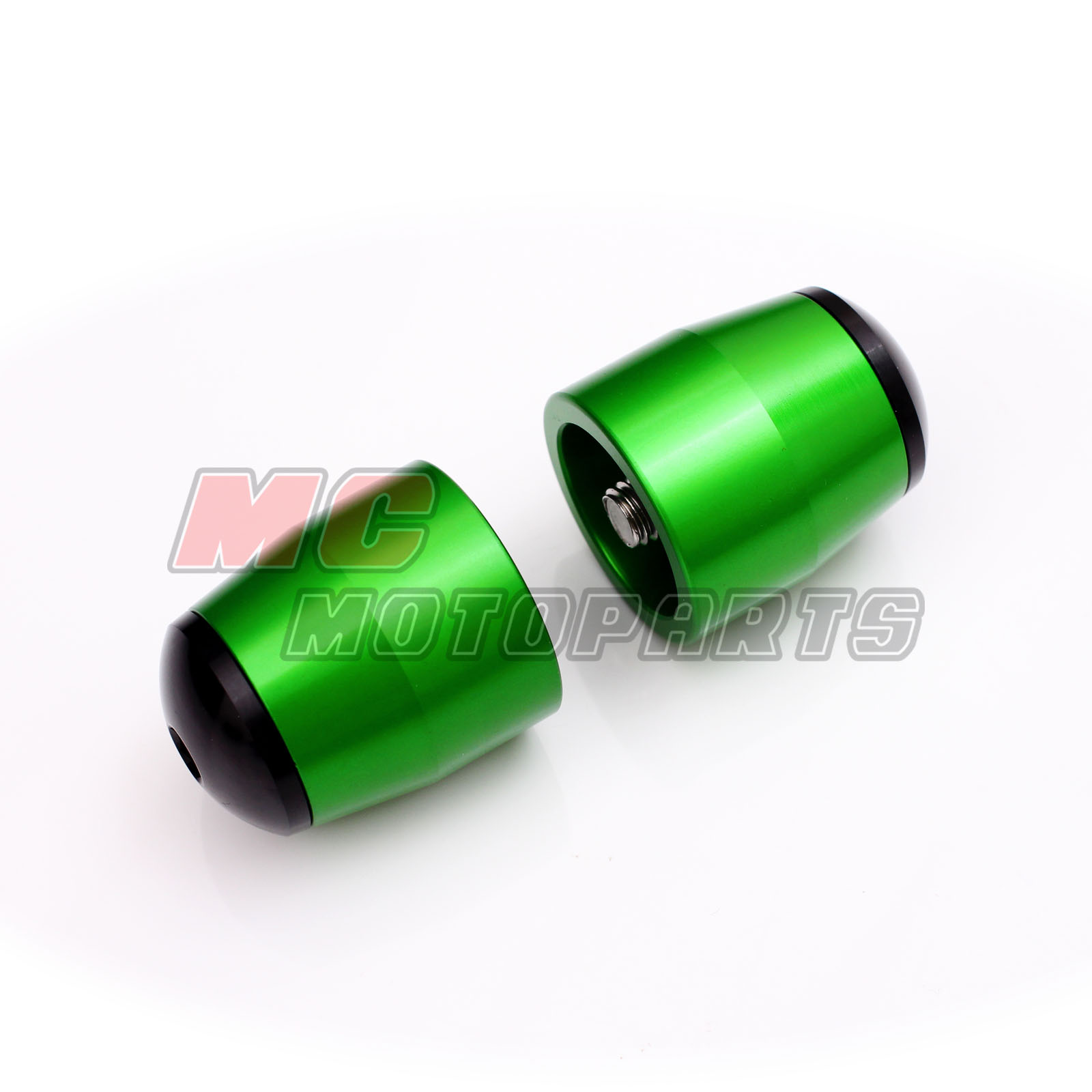 Green Kawasaki Cnc Bar End Sliders Zx6r Zx10r Zzr Gtr 1400