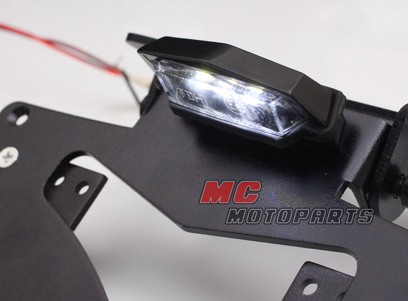 Universal Motorcycle Led Rear Tail Light Number Plate Quad