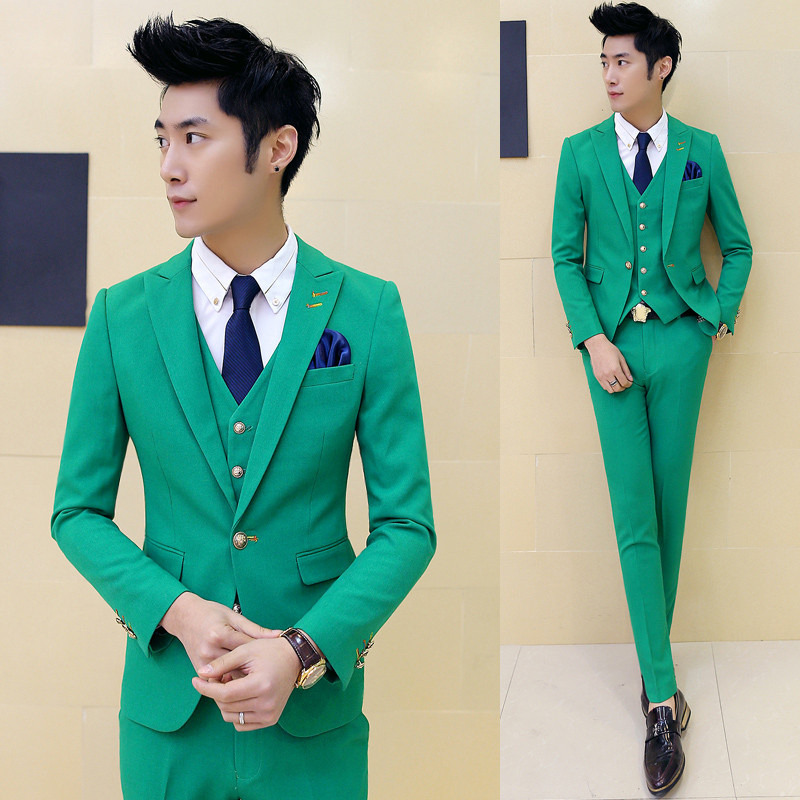 New Men\'s Premium Slim Fit Wedding Dinner Prom Jacket Waistcoat ...