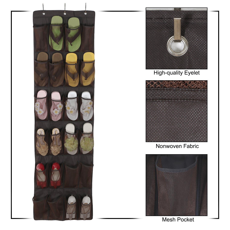 Porte Chaussure Derriere Porte sac de rangement pour pantoufle derrière la porte sac À