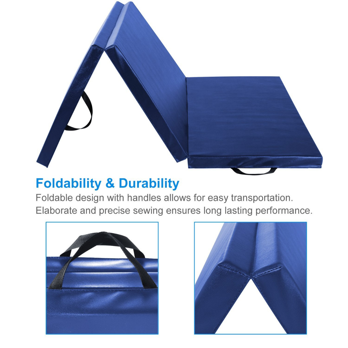 thick itm mats mat gym gymnastics big folding fitness blue panel exercise tl fdw