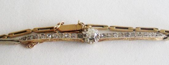 Antique French Art Deco 18k Gold Bracelet Diamond