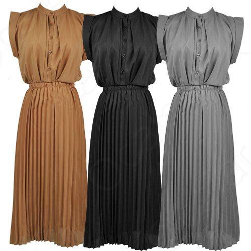 Women Round Neck Boho Chiffon Maxi Long Dress Sleeveless Casual