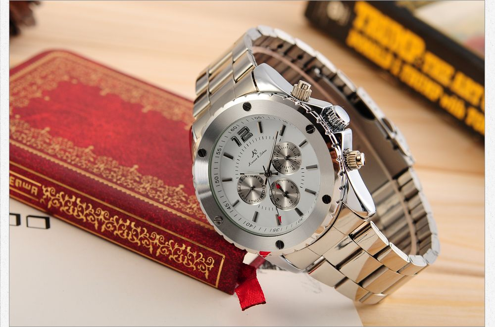 KS Automatic Mechanical 6 Hands Date Day Mens Stainless Steel Watch