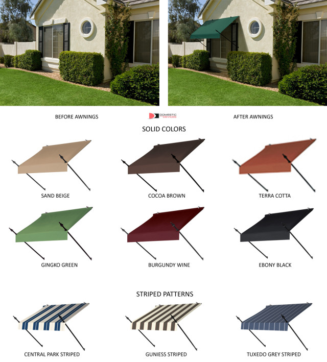Window Awning Designer Style with Spear Supports - DIY ...