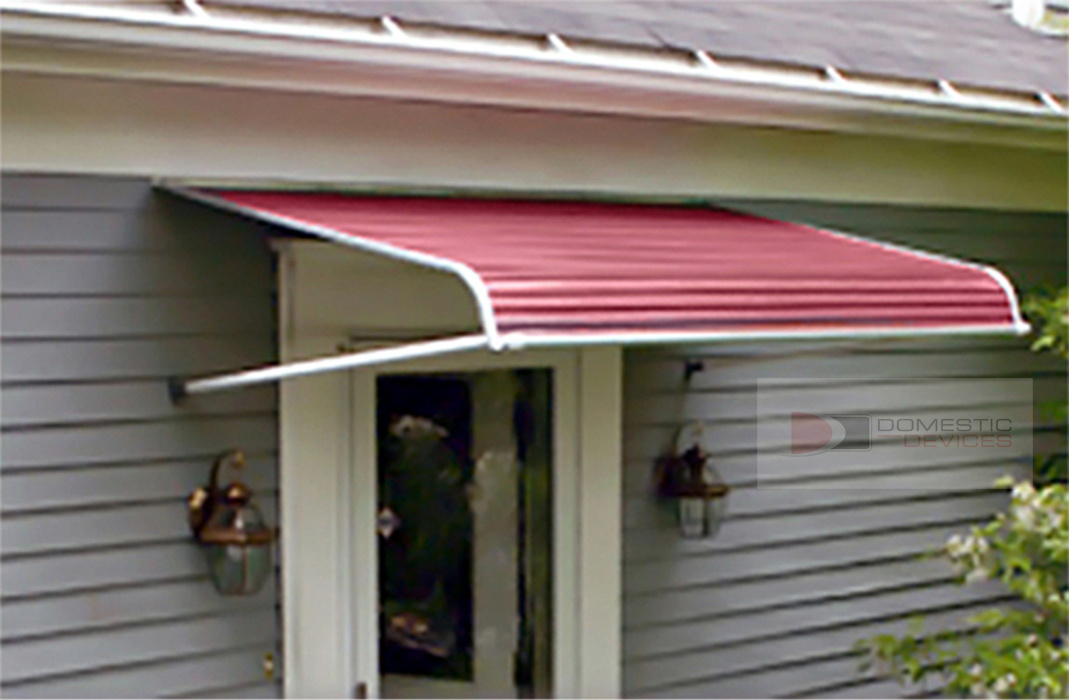 "72"" Aluminum Door Canopy Out-Swinging Door Awning 48""P 