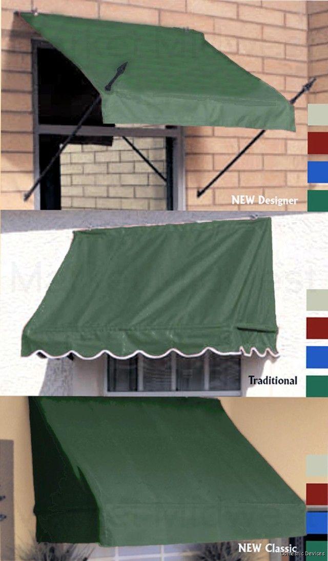 Fabric DIY Window Awnings - Three Sizes & Five Colors | eBay