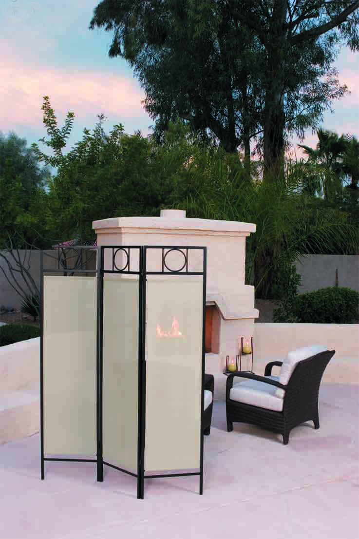 Easy Pool Deck W Privacy Screen: Portable Outdoor Sun Screen