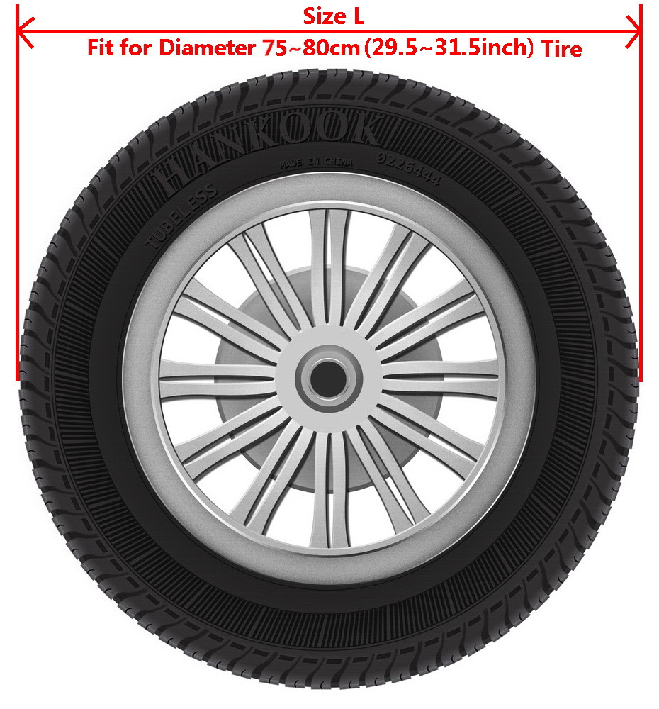 """Jeep Wrangler Liberty Off Road Vehicle SUV Spare Wheel Tire Tyre Cover 29""""30""""31"""""""