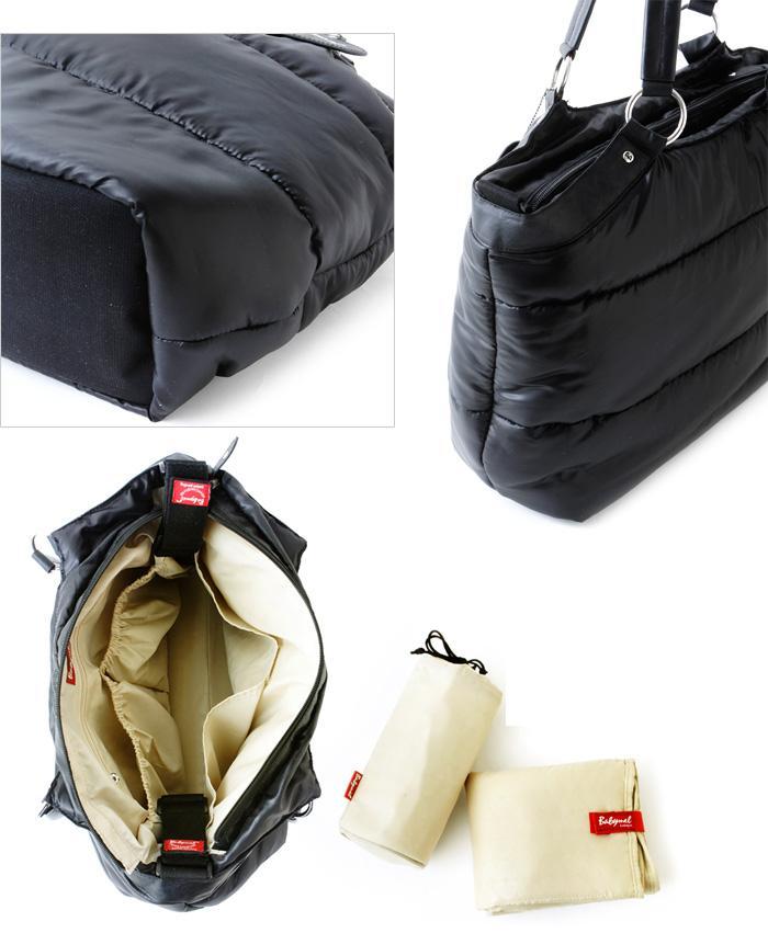 New Storksak Baby Mel Camden Carry All Shoulder Black Designer Puff Diaper Bag