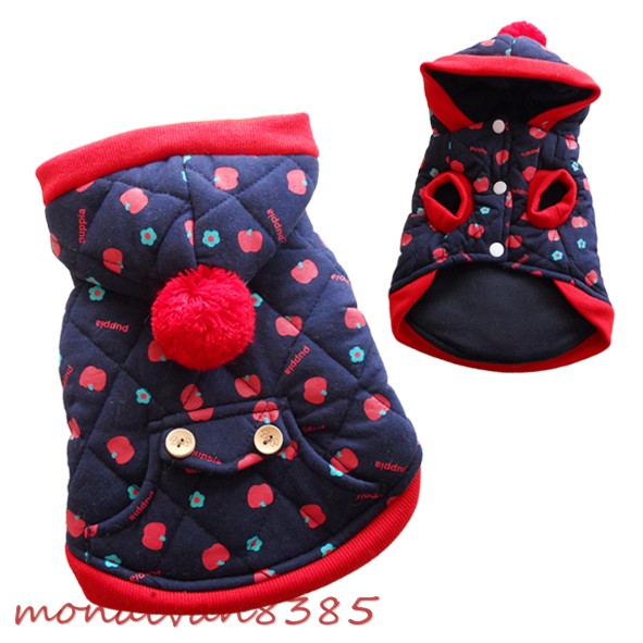 All Size Warm Quilted Dog Coats Jackets Hoodies Dog Clothes Apparel Pet Supplies