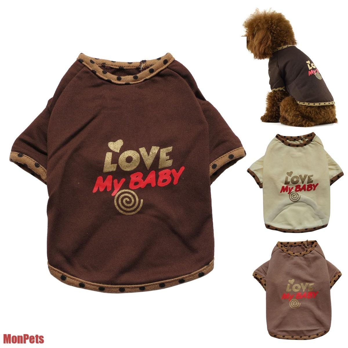 Love My Baby Cute Dog T Shirt Tee Shirt Pet Apparel Dog Clothes XS s M L XL XXL