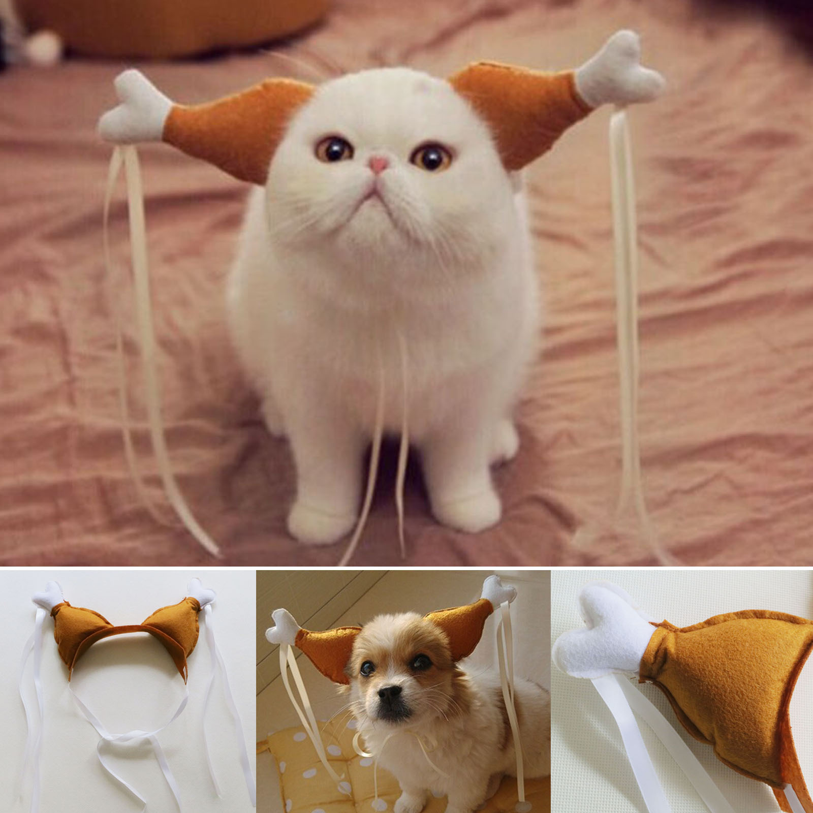 Turkey Chicken Drumstick Headband Dog Cat Headdress Funny Accessories Costumes | eBay & Turkey Chicken Drumstick Headband Dog Cat Headdress Funny ...