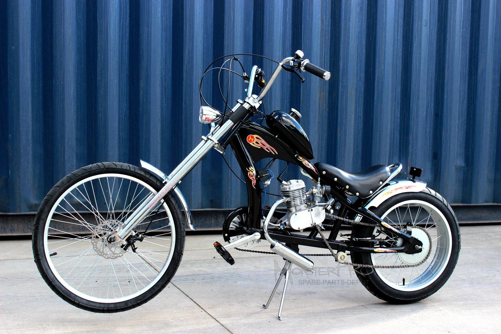 80cc Motorised Motorized Chopper Bicycle Push Bike 2 ...