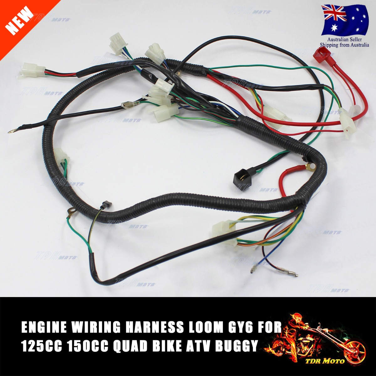Boxer Go Kart Wiring Harness Diagrams Electrical Diagram 250cc Dune Buggy Wire Loom 150cc 200cc 300cc Atv Quad Gy6