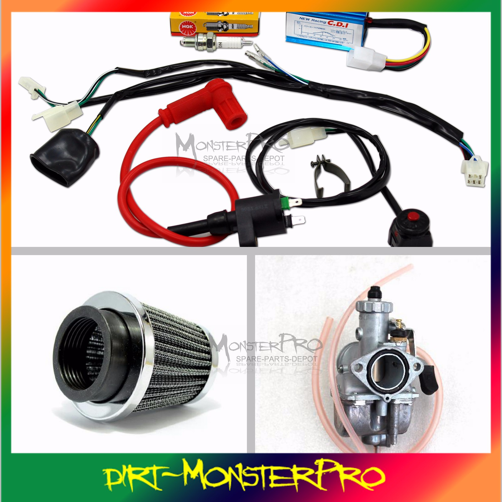 full wiring harness engine kit carby carburetor air filter ... 22r carburetor wiring diagram 80 carburetor wiring harness