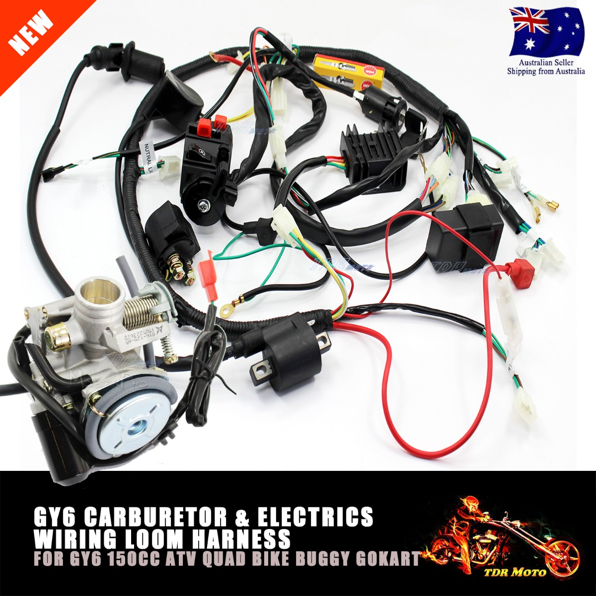 gy cc atv quad buggy carby carburetor wire harness wiring gy6 150cc atv quad buggy carby carburetor wire harness wiring harness solenoid