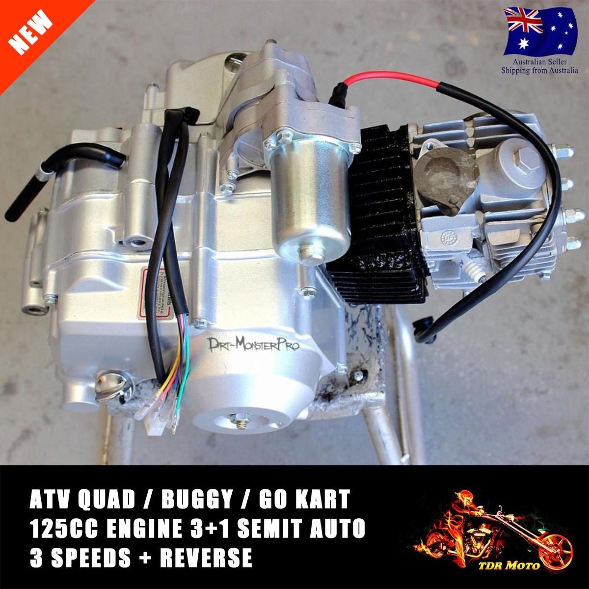 125cc 3 1 semi auto 3 speed reverse engine motor pit. Black Bedroom Furniture Sets. Home Design Ideas