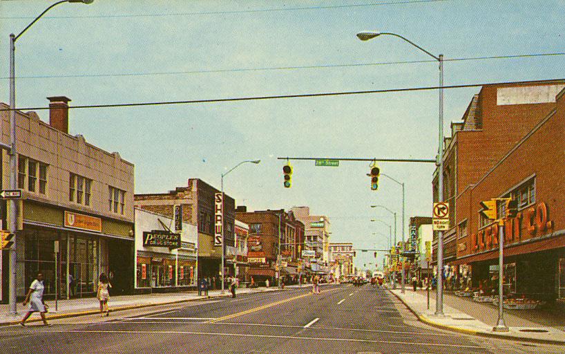 Newport News Va 1950s Downtown Washington Avenu Main