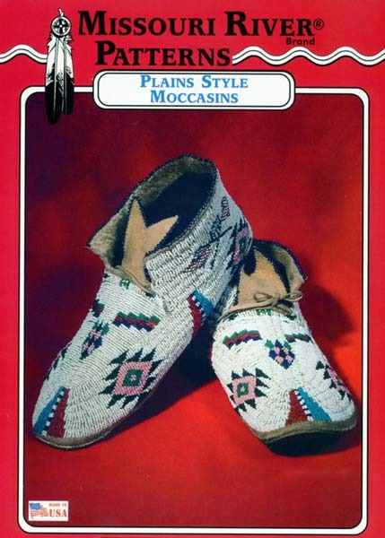 Missouri River Native American Indian Plains Style Moccasins Sewing
