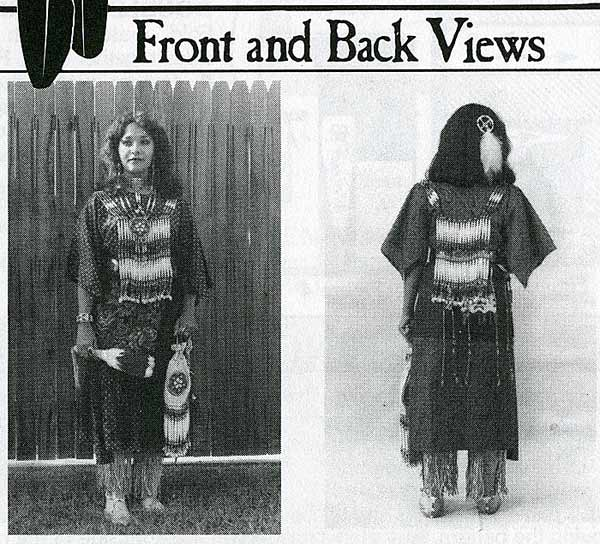 Indian Comanche & Sioux Womens Cloth Dress Sewing Pattern
