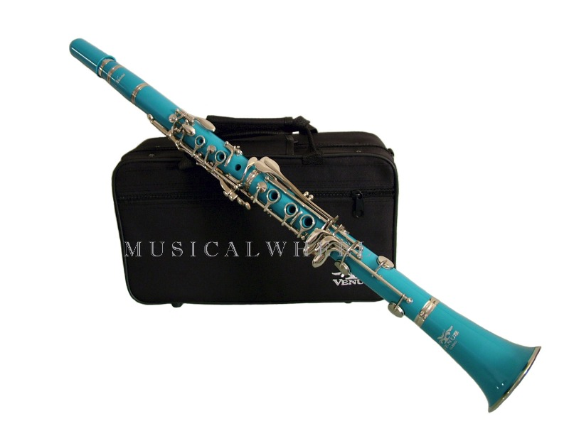 clarinet b flat bb aqua blue color sale ebay. Black Bedroom Furniture Sets. Home Design Ideas