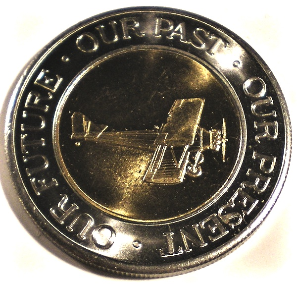 Details about CA SFO 2000 UNITED AIRLINES Fleet Operations 39mm BIMETALLIC  Medal 2 AIRPLANES