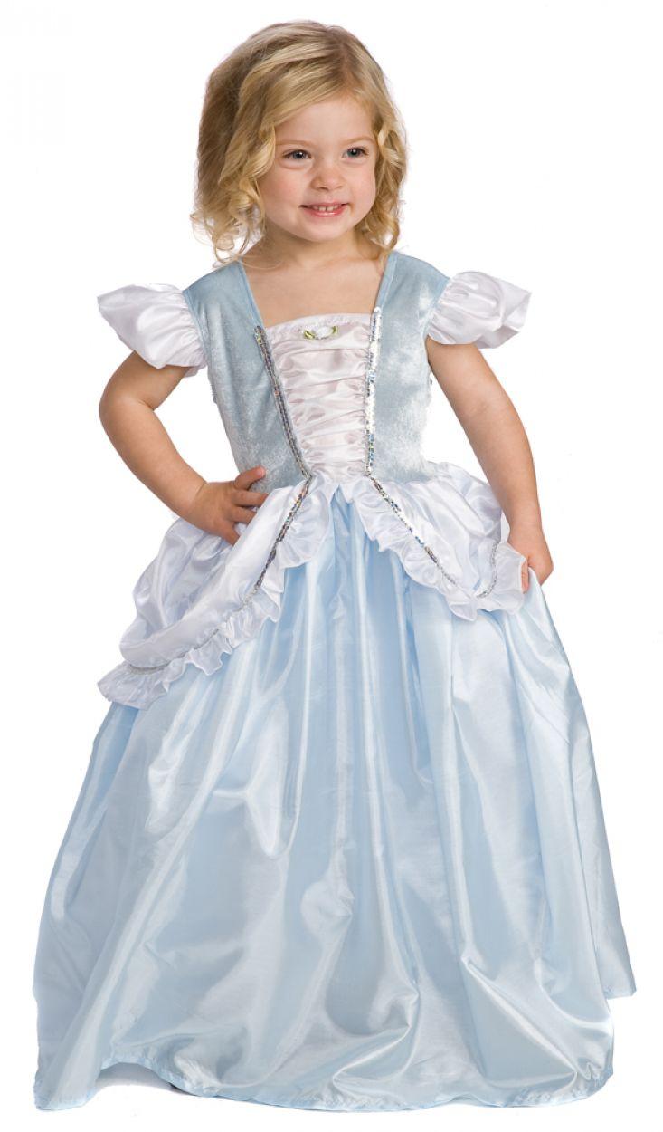 Girl's Cinderella Princess Dress up Halloween Costume S,M ...