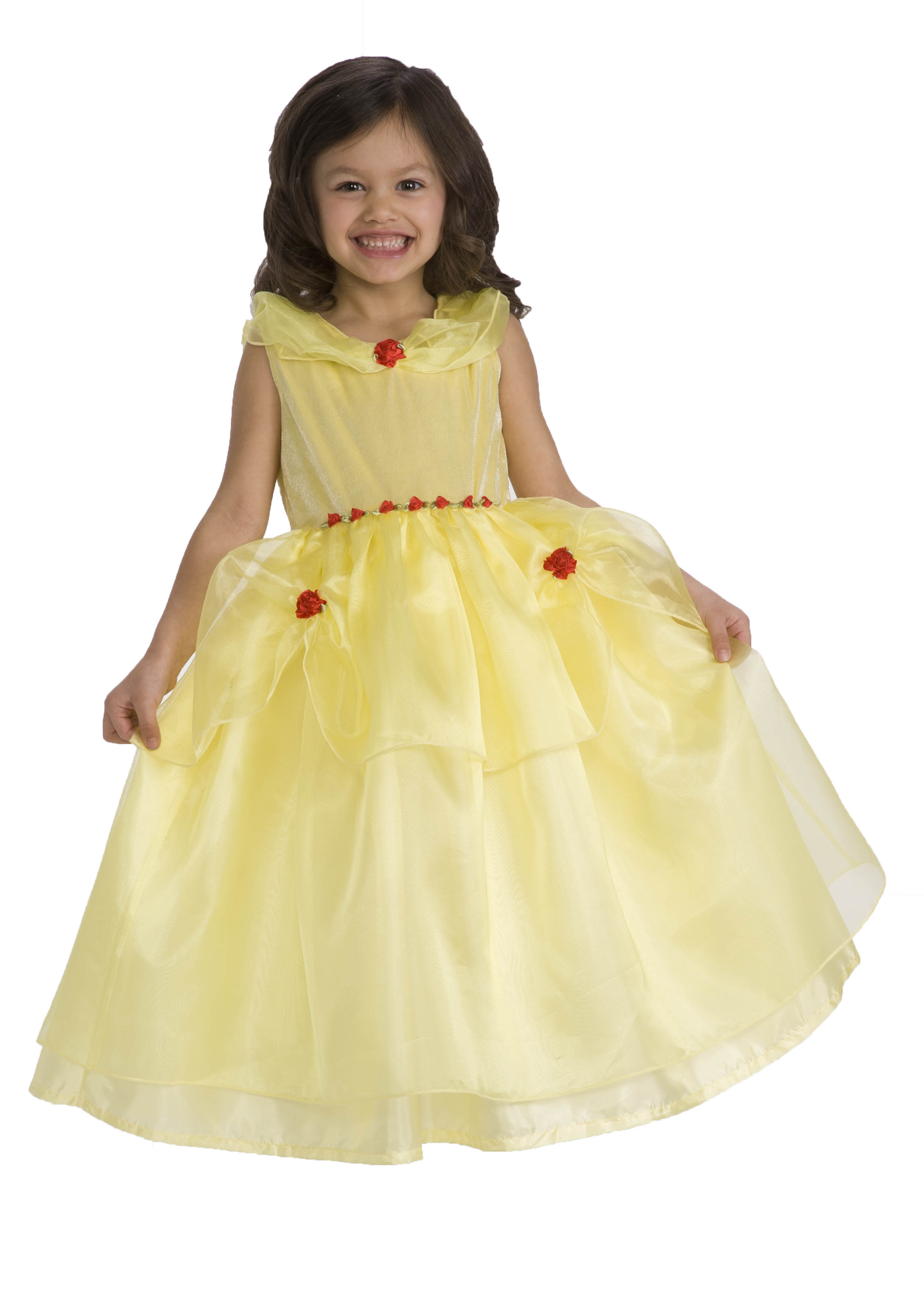 Girl's Deluxe Belle Yellow Beauty Princess Dress Up ...