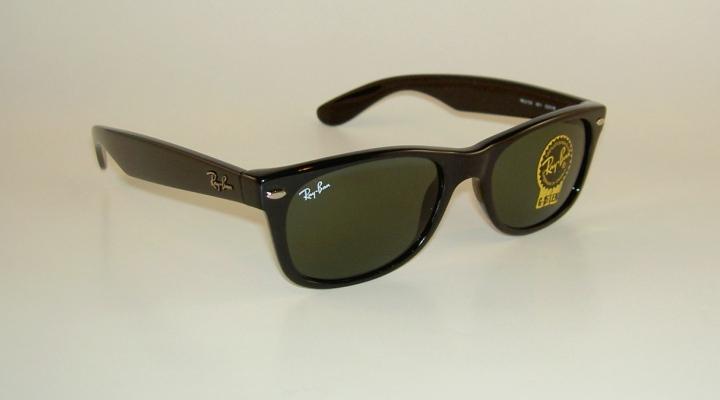 Details about New RAY BAN Sunglasses Black WAYFARER RB 2132 901 G-15 Glass  Green Lens 52mm 4dd05981fb