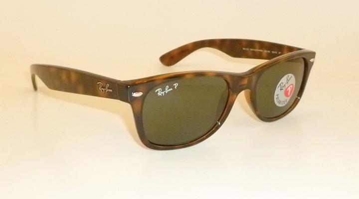 b47c70916f RAY BAN New WAYFARER Brown Frame RB 2132 902 58 Glass POLARIZED 55mm ...