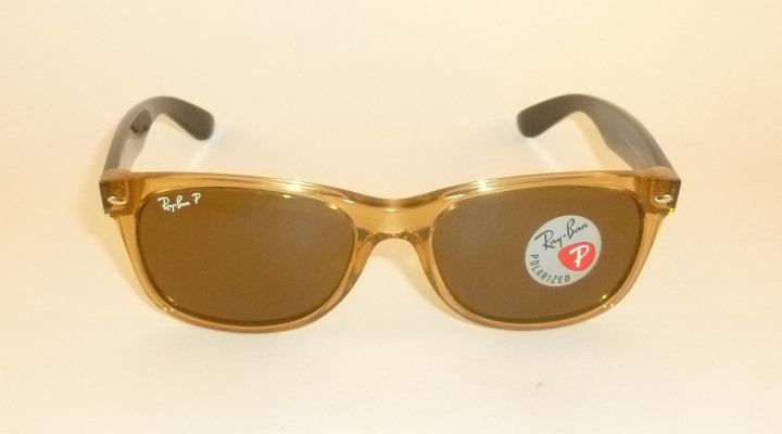 c7596fd7ee New RAY BAN Sunglasses Honey WAYFARER RB 2132 945 57 Glass Polarzed ...