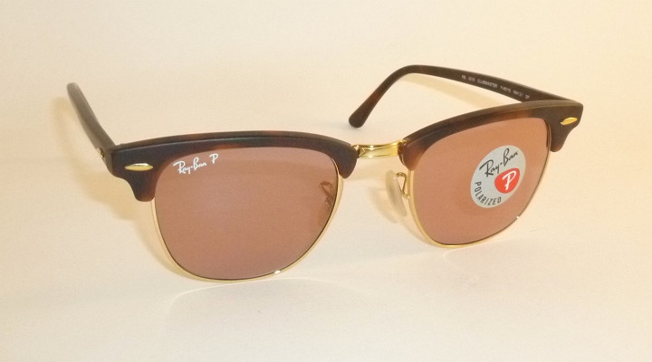 ffa15b9c1ea New RAY BAN Clubmaster Matte Tortoise RB 3016 1145 15 Polarized Pink ...