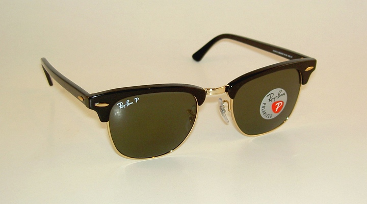 29fdab3d58 Details about New RAY BAN Sunglasses CLUBMASTER Black Frame RB 3016 901 58  Polarized Lenses