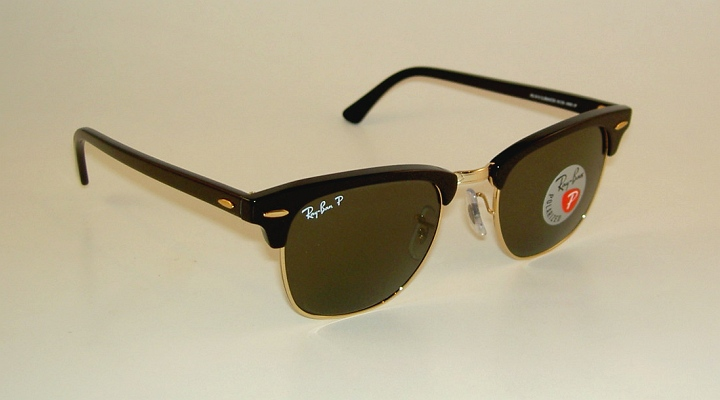 5b3c3573f9 Description. Authentic Polarized Ray Ban Clubmaster Sunglasses Brand new