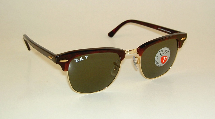 6717f0e461 New RAY BAN Sunglasses CLUBMASTER Tortoise Frame RB 3016 990 58 ...