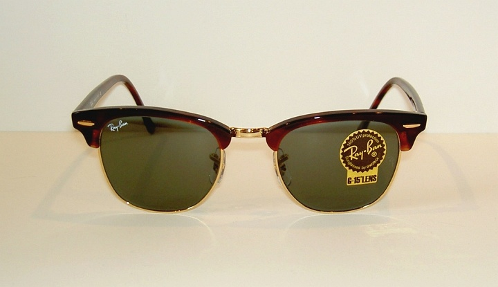 fc3a175440c New RAY BAN Sunglasses Tortoise CLUBMASTER RB 3016F W0366 G-15 Glass ...