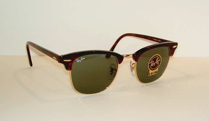 00c8e894f047d Details about New RAY BAN Sunglasses Tortoise CLUBMASTER RB 3016 W0366 G-15  Glass Lenses 51mm