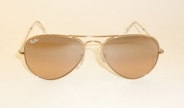 24816036c7 New RAY BAN Aviator Sunglasses Gold Frame RB 3025 001 3E Pink Mirror ...
